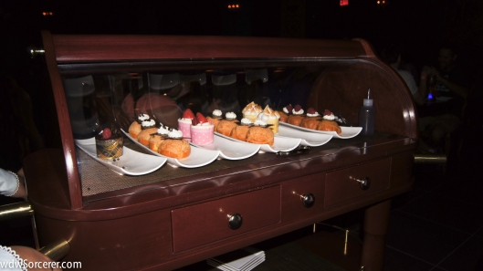 Cart with desserts