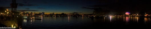 Night view of World Showcase in EPCOT 5x1
